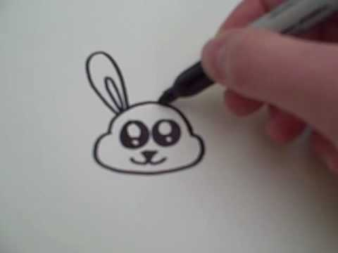 480x360 How To Draw A Cartoon Bunny