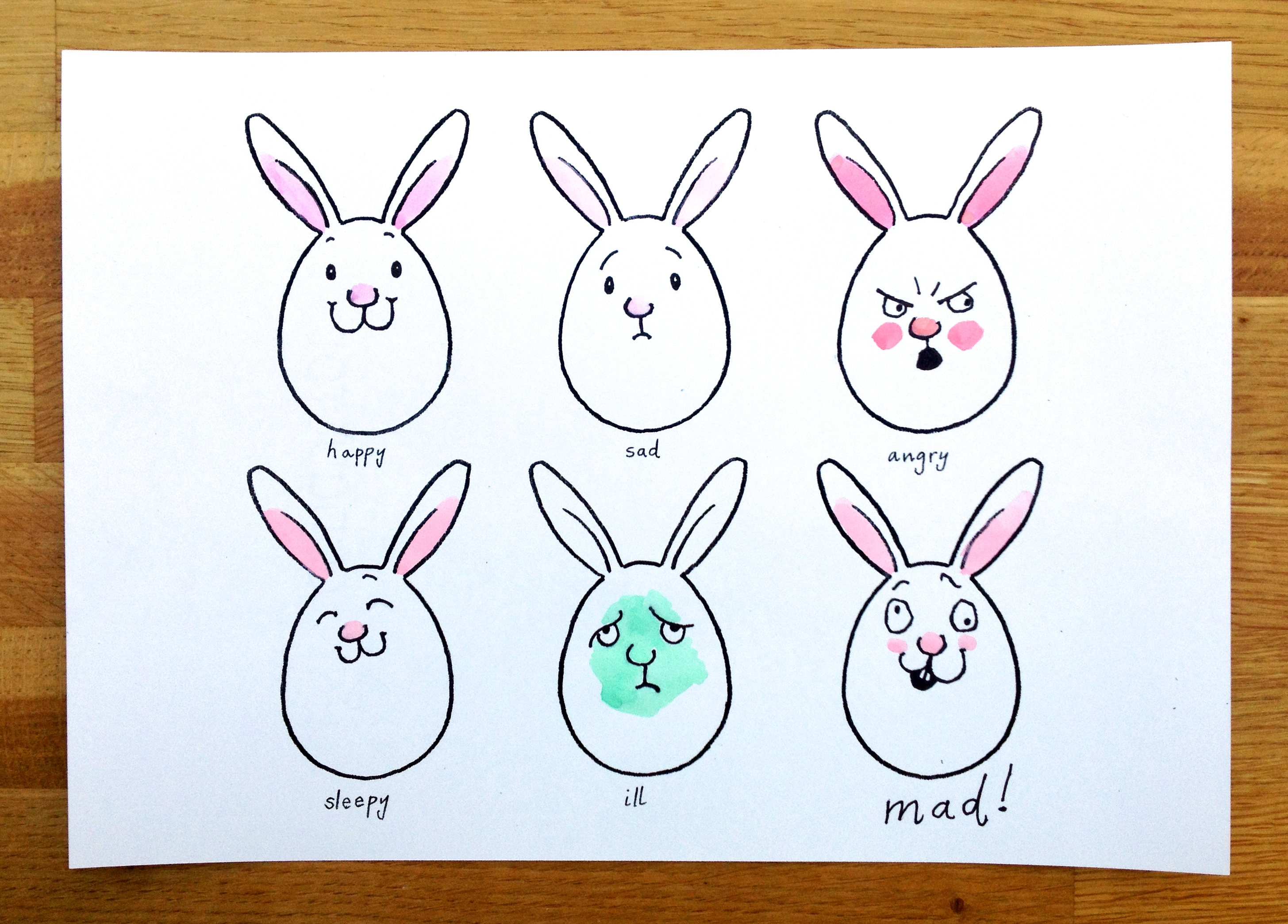 2911x2089 Martha's Bunny Faces Drawing Game Sunny Side Up!