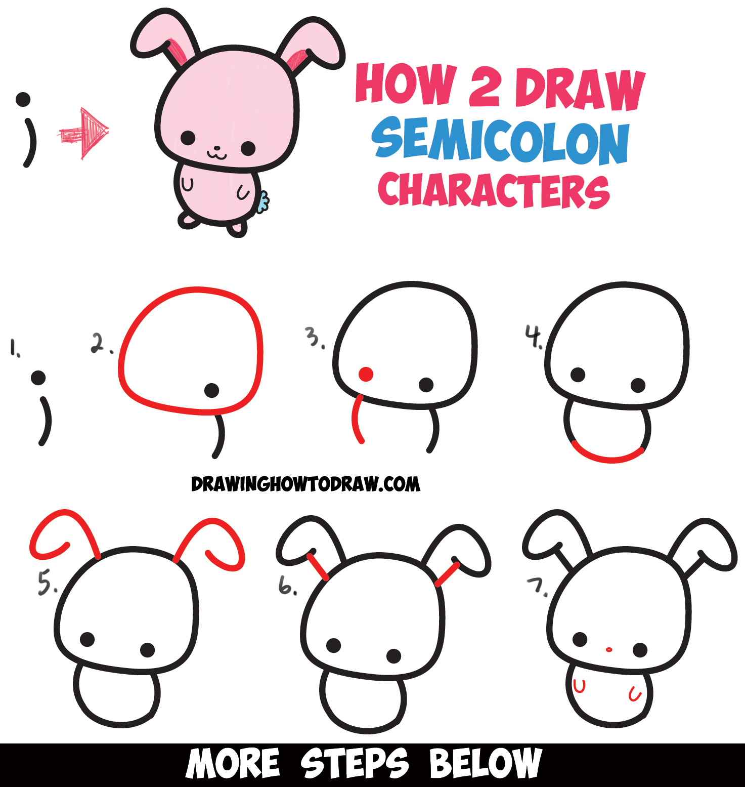 1473x1555 Rabbit Drawing Step By Step How To Draw A Cute Easy Cartoon Kawaii