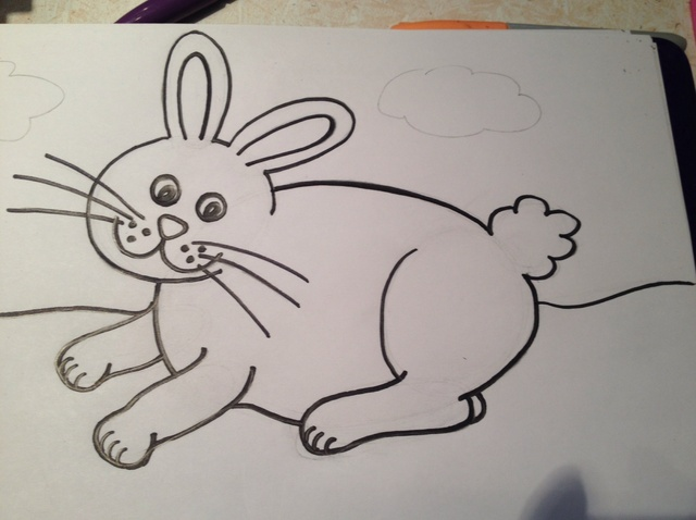 640x478 How To Easily Draw A Bunny Rabbit