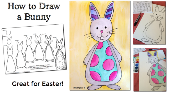 580x318 How To Draw A Bunny Rabbit