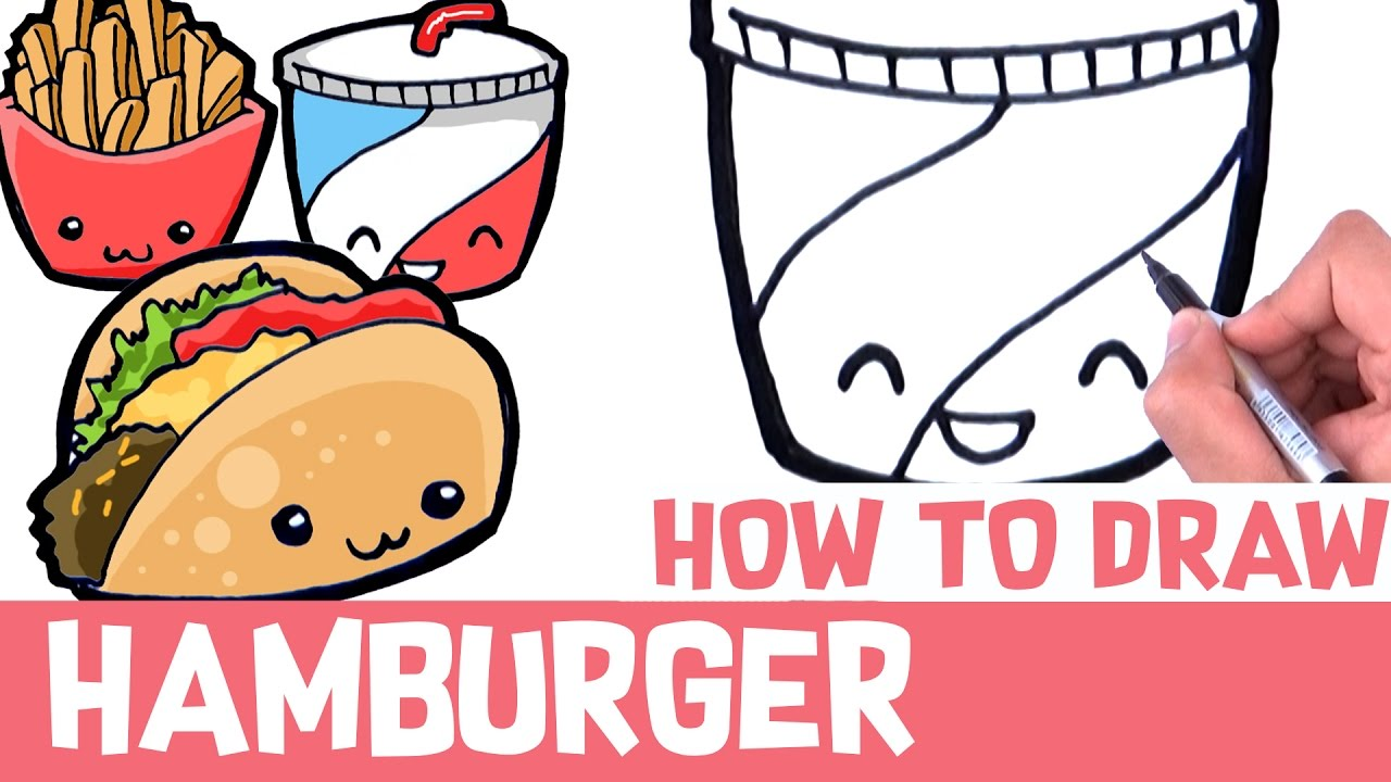 Burger And Fries Drawing At Getdrawings Com Free For Personal Use