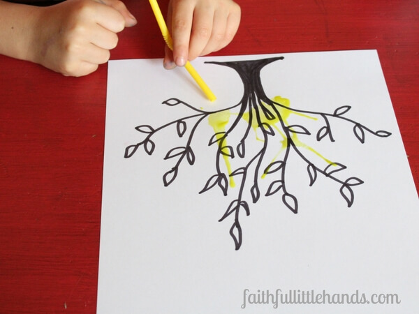 600x450 Moses And The Burning Bush Blow Paint Craft