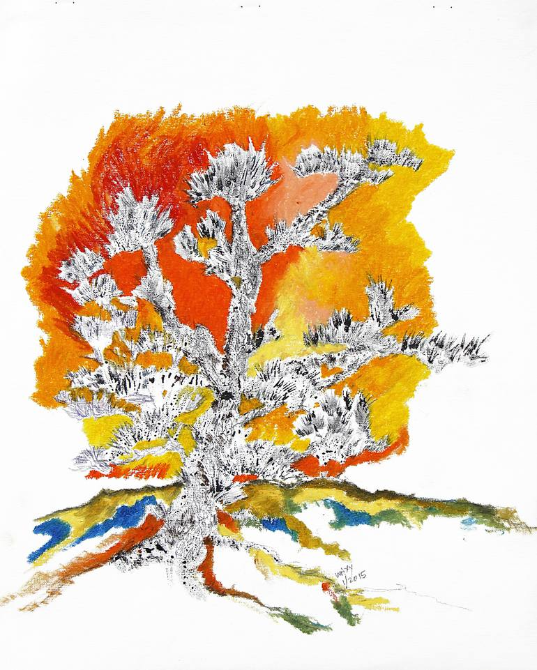 770x961 Saatchi Art The Burning Bush Drawing By Kah Wah Tan