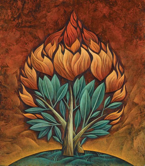 500x572 Moses And Burning Bush