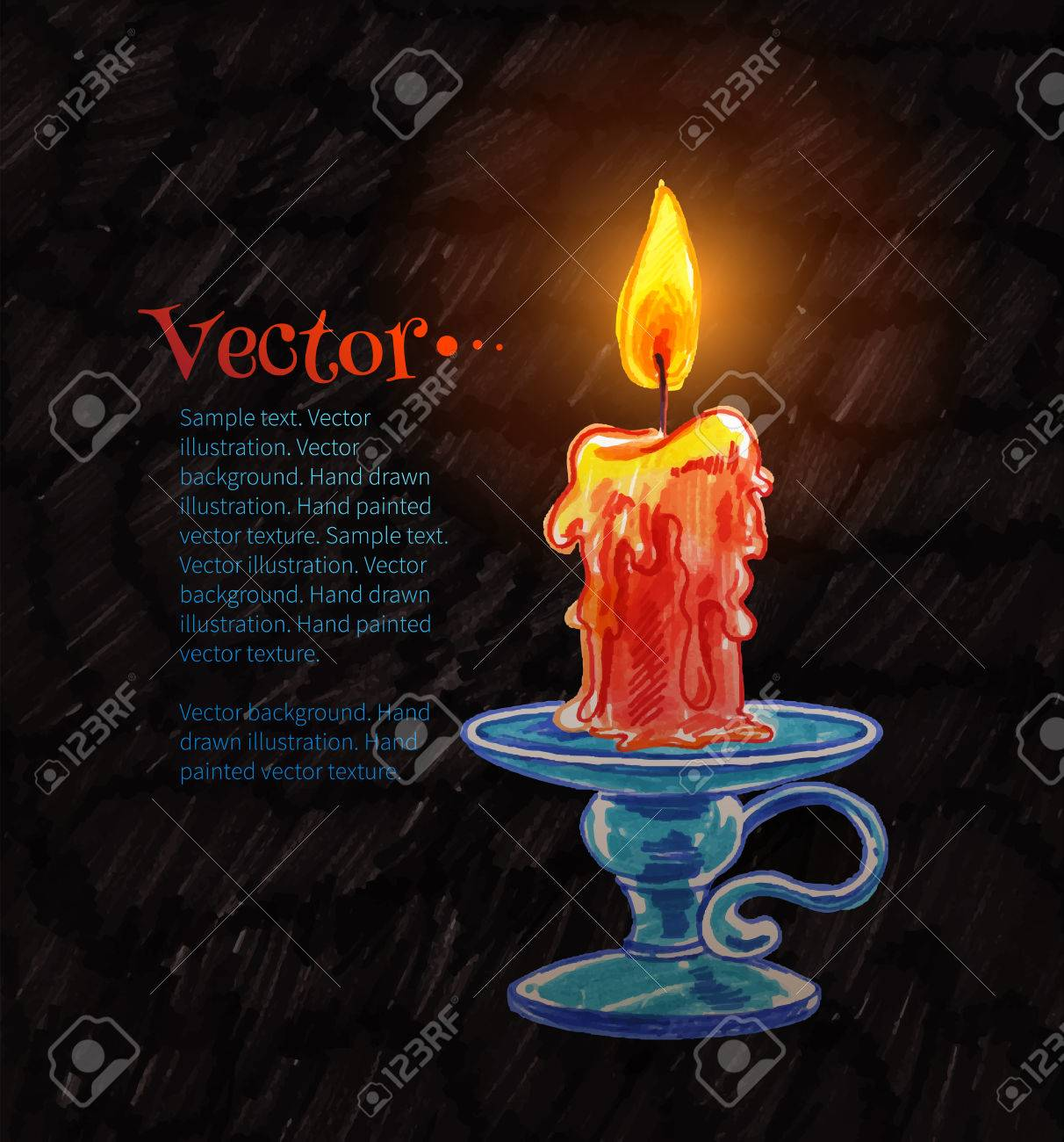 1212x1300 Felt Pen Drawing Of Burning Candle. Royalty Free Cliparts, Vectors