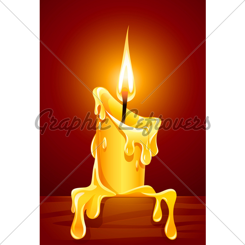 500x500 Flame Of Burning Candle With Dripping Wax Gl Stock Images