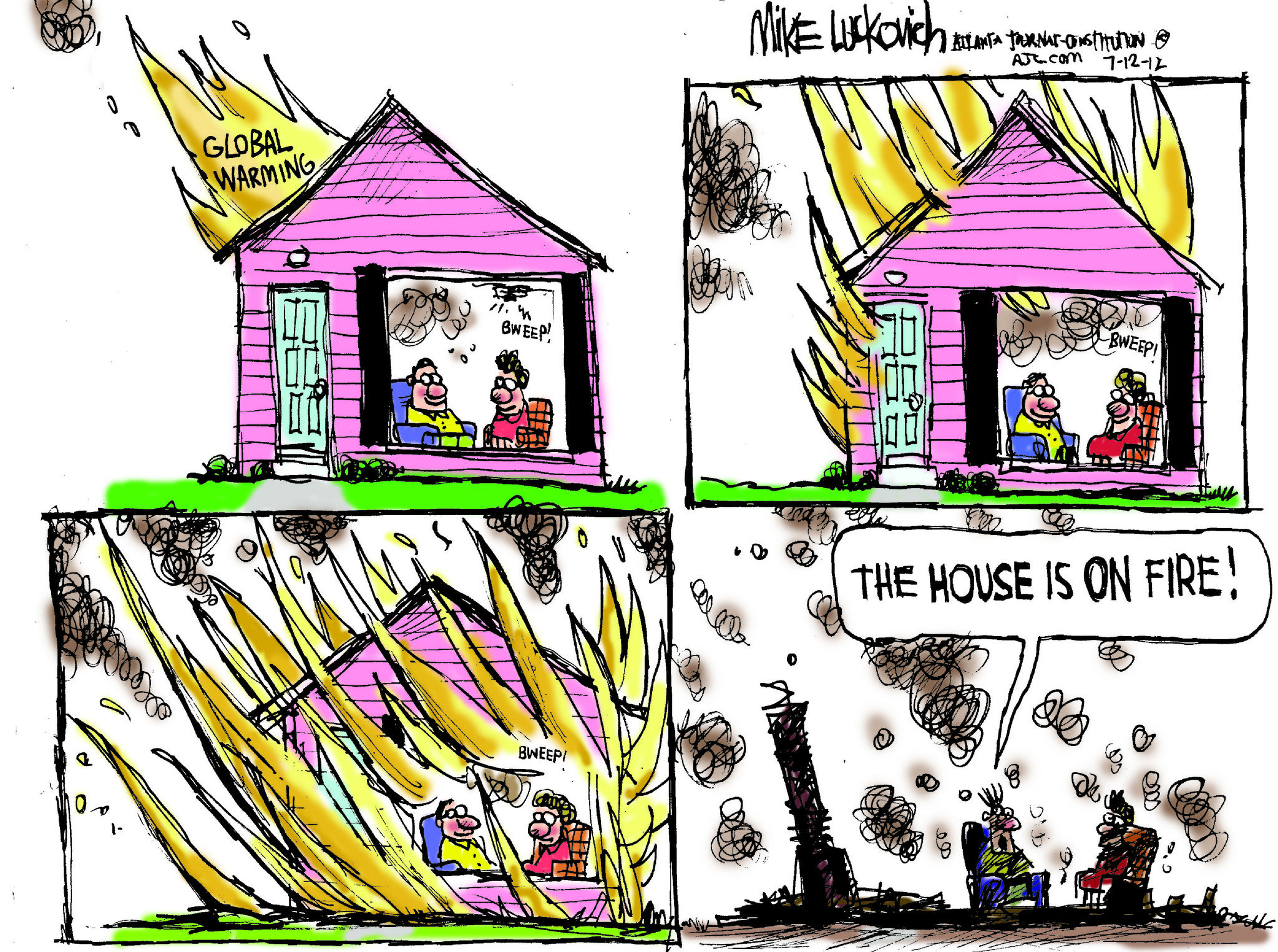 2048x1525 Mike Luckovich Cartoon Burning Down The House
