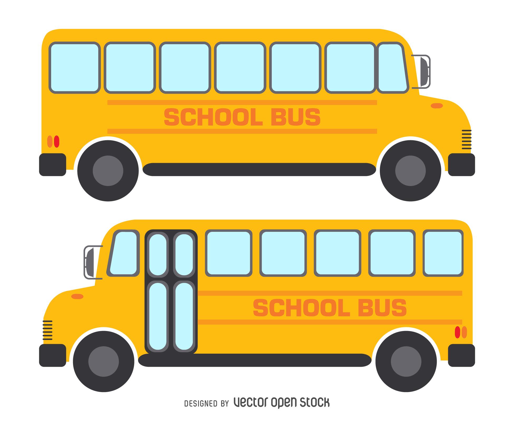 1950x1600 2 Isolated School Bus Drawings