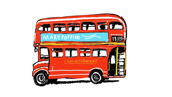 600x337 Blog Post London Bus Drawings Water Color London