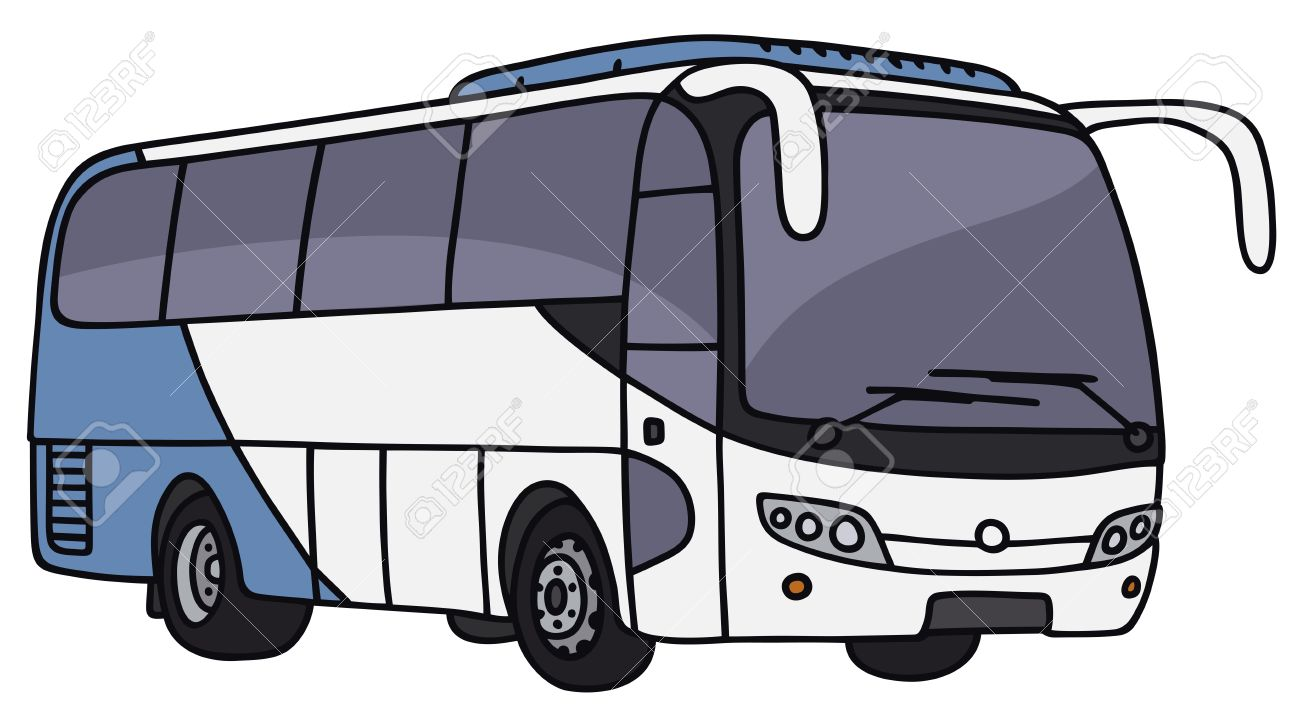 1300x715 Hand Drawing Of A Touristic Bus