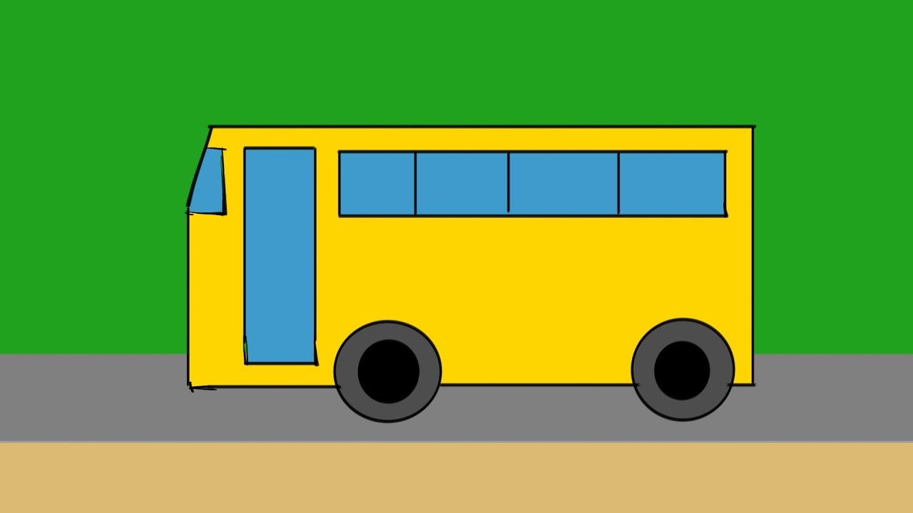 1280x720 How To Draw School Bus Drawing And Coloring Step By Step