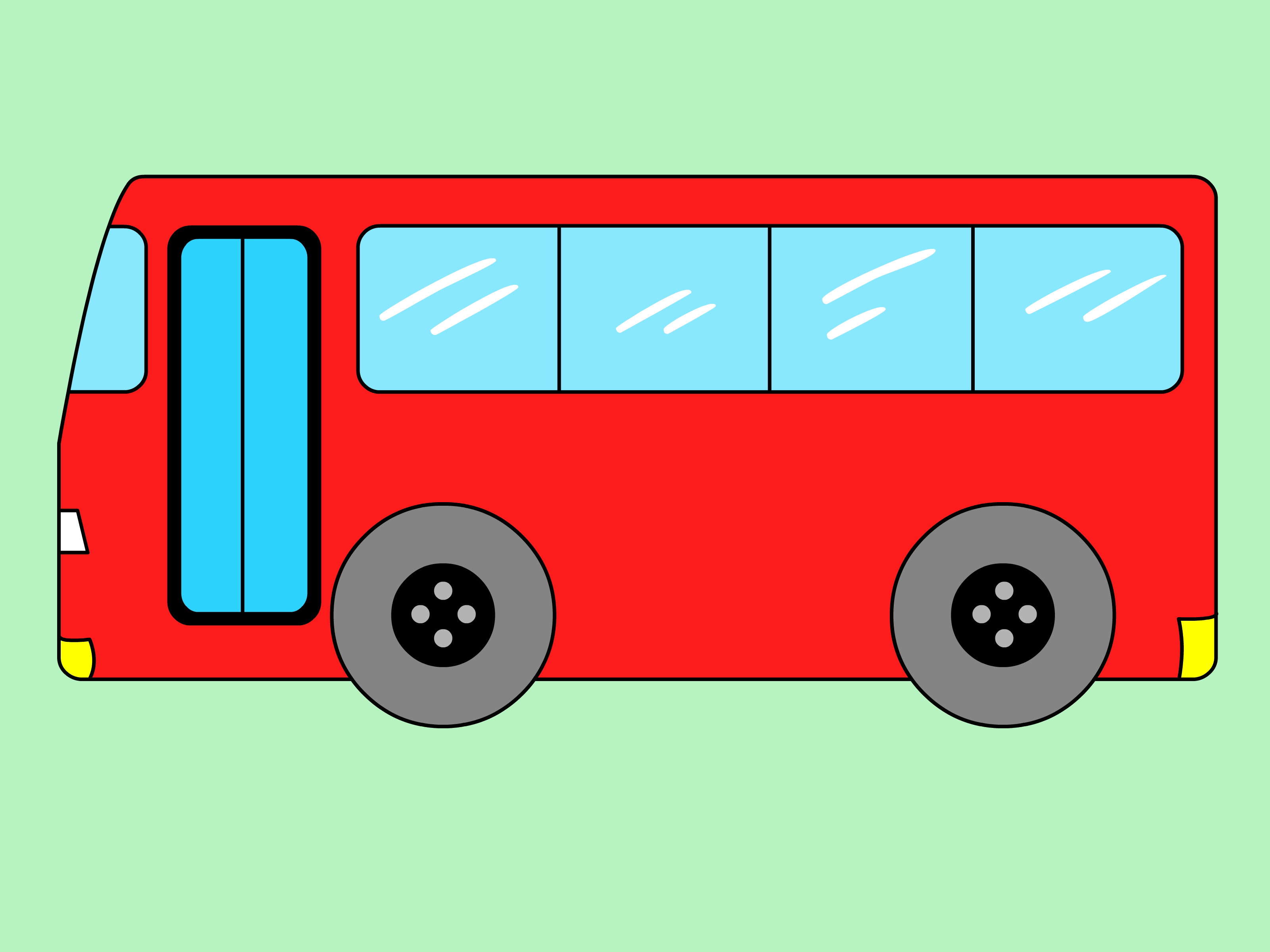 3200x2400 How To Draw A Bus 5 Steps (With Pictures)