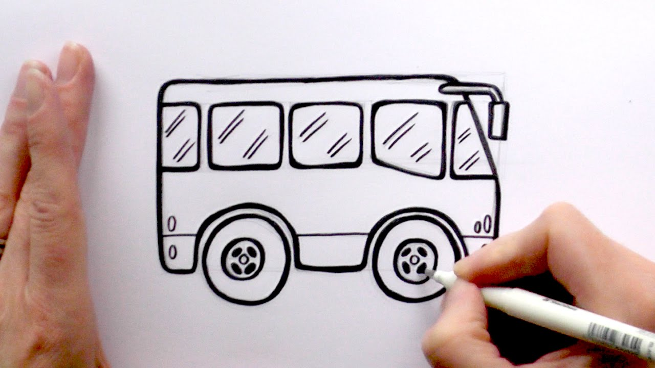 1280x720 How To Draw A Cartoon Bus