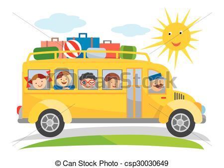 450x337 School Trip Bus Cartoon. Cartoon Of Yellow School Bus Eps
