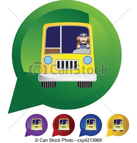 450x470 Bus Driver Eps Vectors
