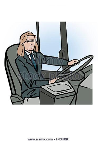371x540 Illustration Female Bus Driver Stock Photos Amp Illustration Female