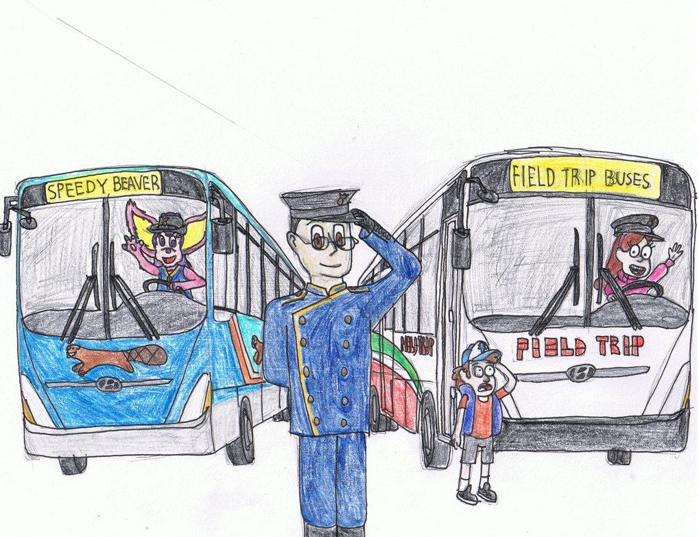 1019x783 Me As A Bus Driver With Ruby, Mabel And Dipper. By
