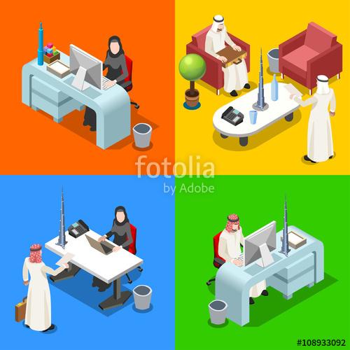 500x500 Middle Eastern Arab Caliph Businessman 3d Flat Isometric People