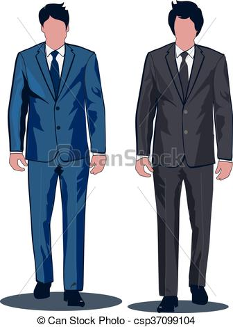 336x470 Formal Business Suits. Business Suits For Professional Men. Vector