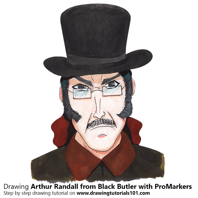 800x800 Arthur Randall From Black Butler With Promarkers [Speed Drawing