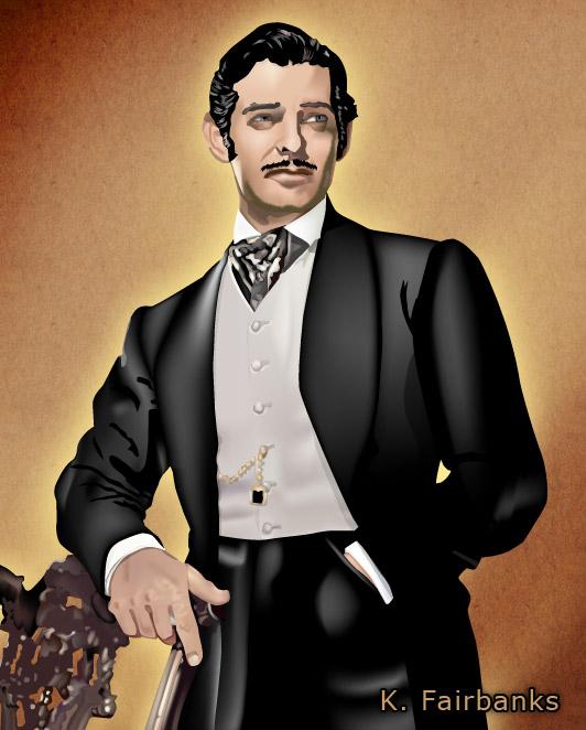 532x662 Clark Gable As Rhett Butler (Vector Drawing) By Eyeqandy