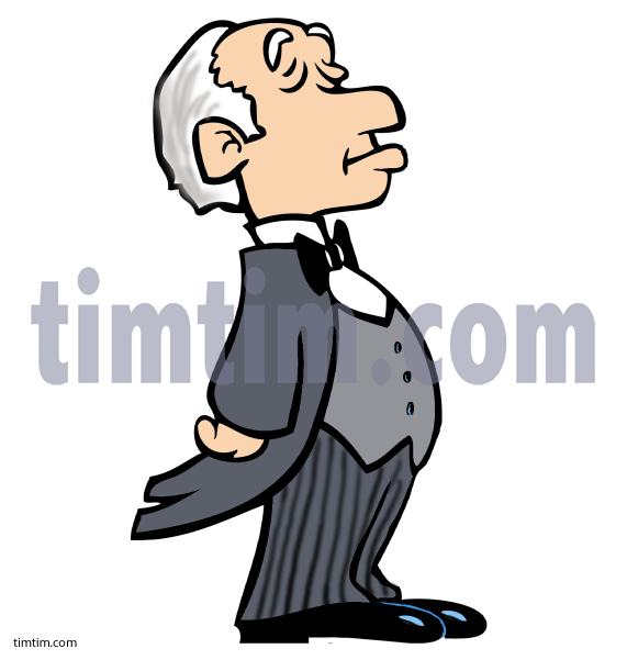 571x601 Free Drawing Of A Butler From The Category Occupations + Jobs