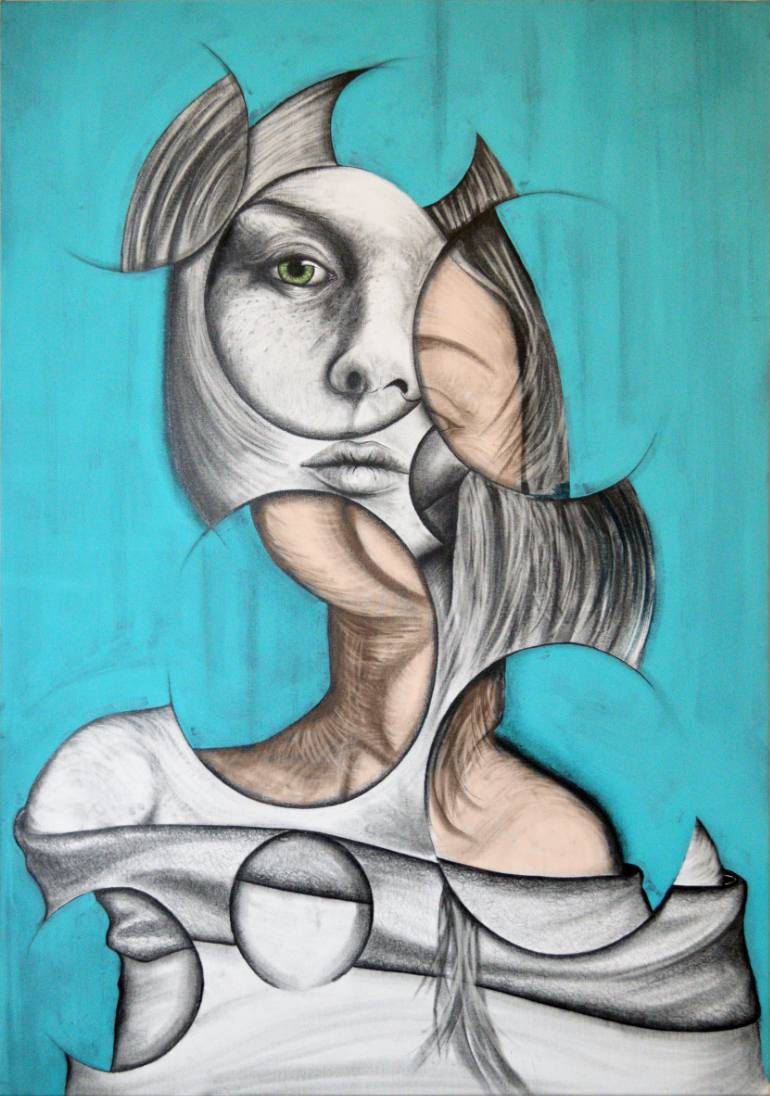 770x1096 Saatchi Art The Stare Drawing By Andy Butler