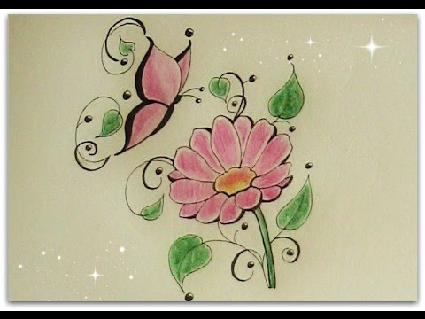 Butterflies And Flowers Drawing At Getdrawings Com Free For