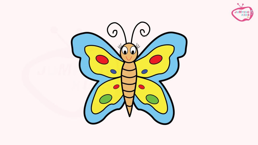 1024x576 drawing butterfly for kids how to draw a cartoon butterfly kids
