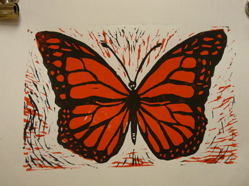 500x375 Printmaking. Two Color Printing. Art Lesson.