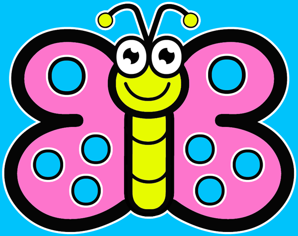 600x476 How To Draw Cartoon Butterflies Drawing Tutorial For Preschoolers