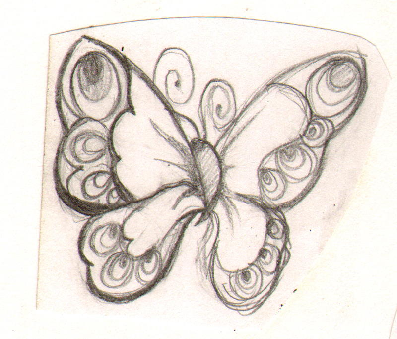 800x683 Joyful Butterfly Sketch A Cartoon Drawing Of A Joyful