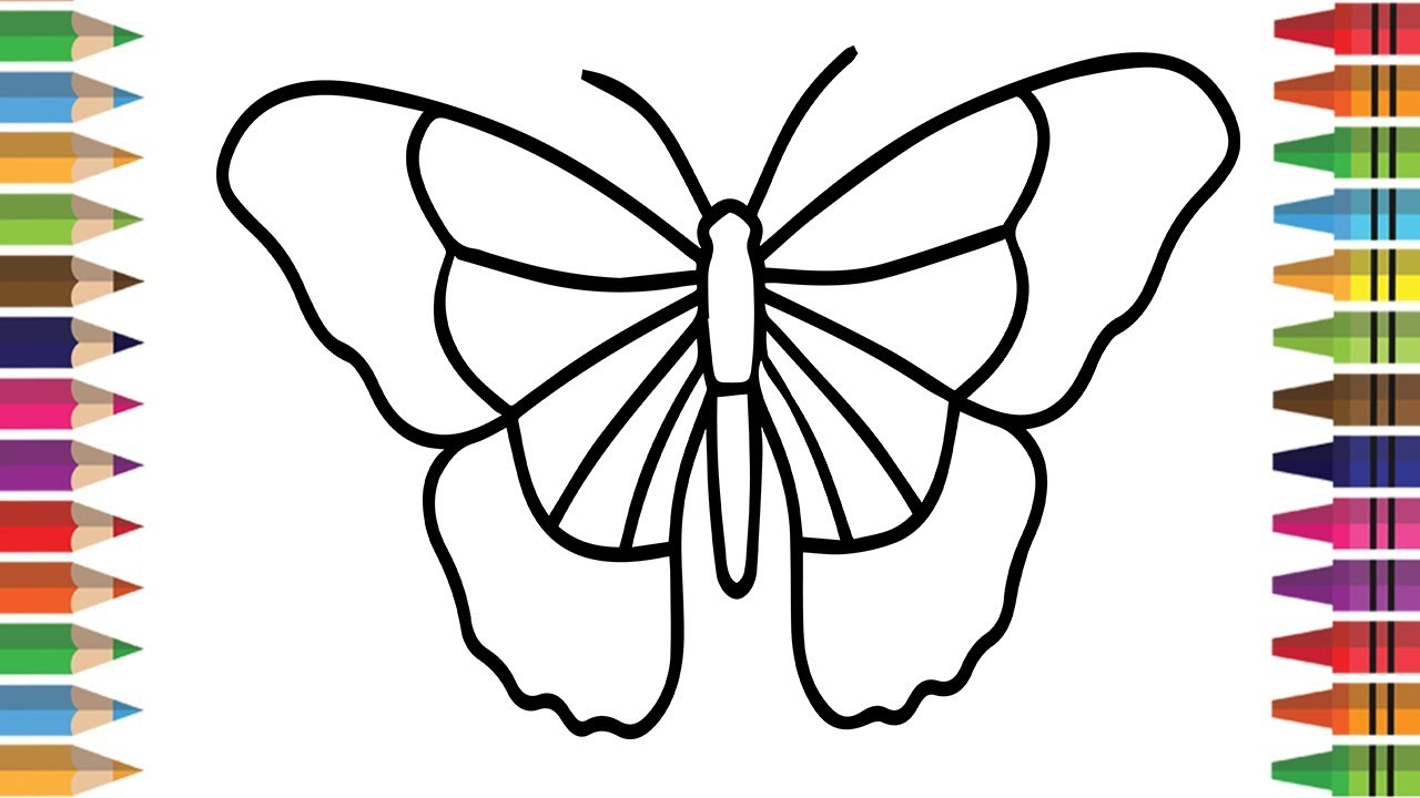 Butterfly Drawing For Children at GetDrawings | Free download