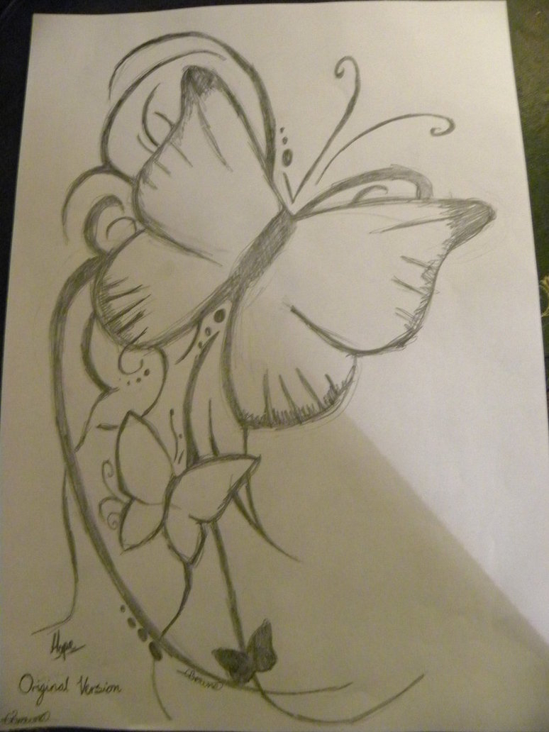 774x1032 Pencil Sketch Drawing Of Butterfly Best Butterfly Drawing
