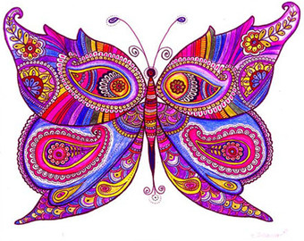 340x270 Butterfly Drawing Etsy