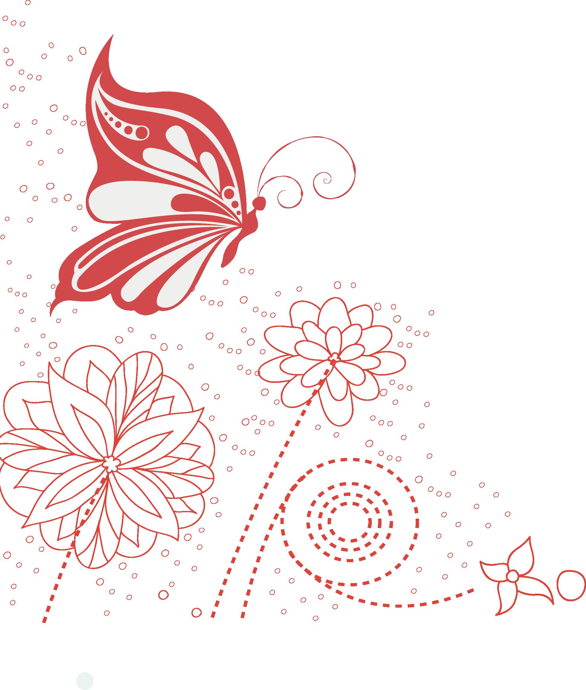 1937x2278 Butterfly Net Drawing