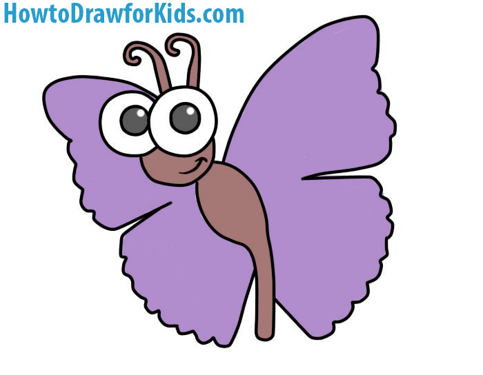 700x544 How To Draw A Butterfly For Kids Howtodrawforkids