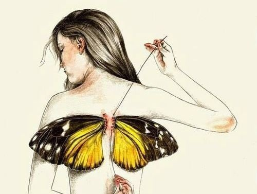 500x377 1 Woman With Butterfly Wings