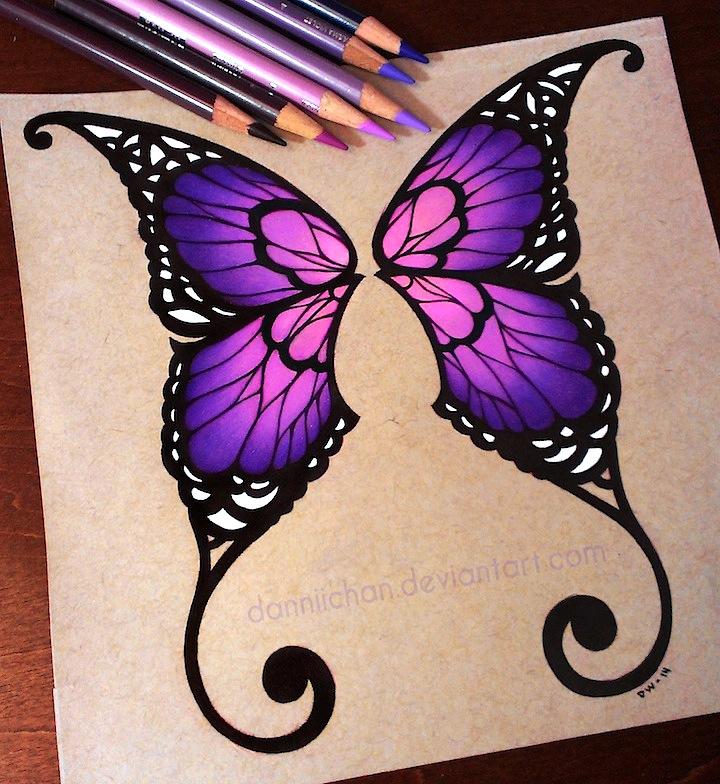 720x784 Purple Butterfly Wings