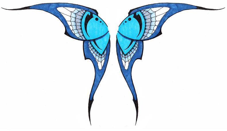 791x459 Simple Tribal Butterfly Wings By Ashes360