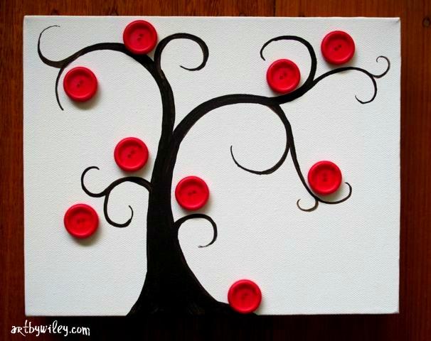 606x480 Jodi Wiley Sketchblog Button Tree Tutorial