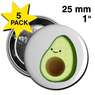 190x190 Cute Avocado Drawing Buttons Spreadshirt