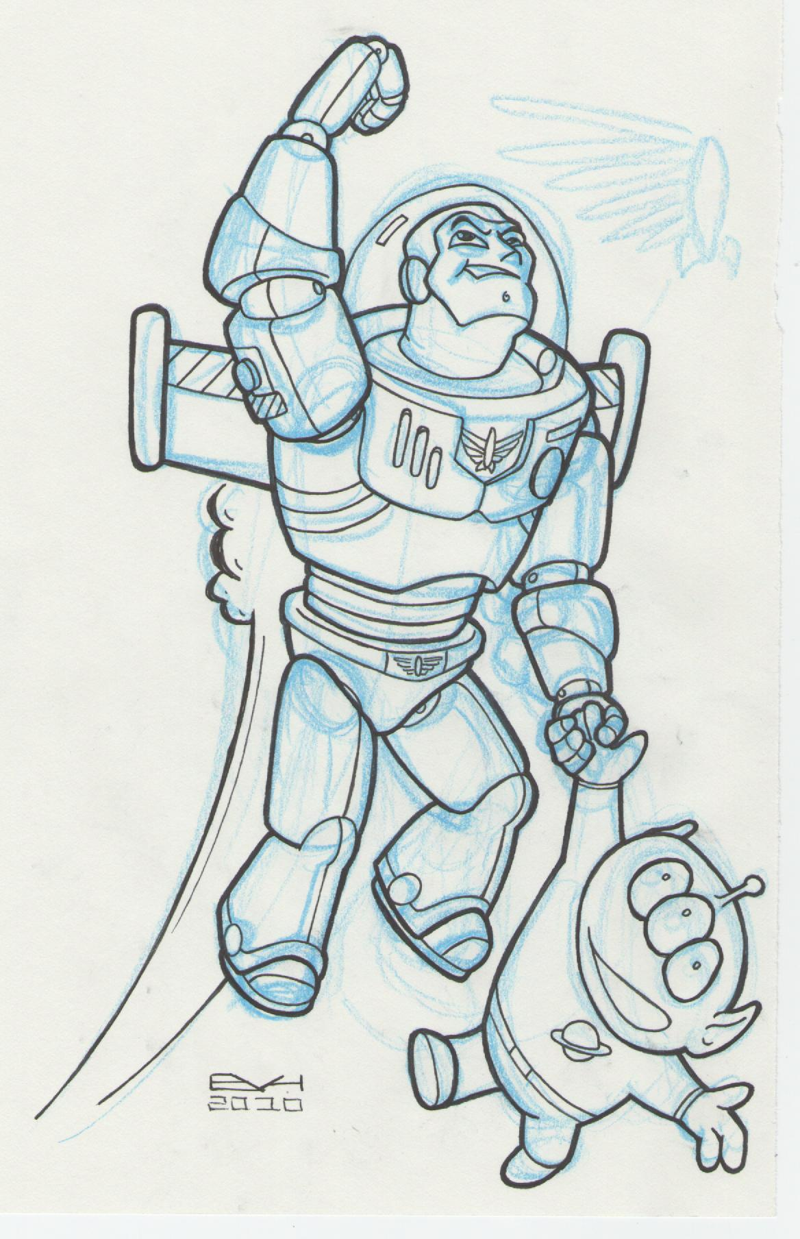 Buzz Lightyear And Woody Drawing at GetDrawings.com   Free for ...
