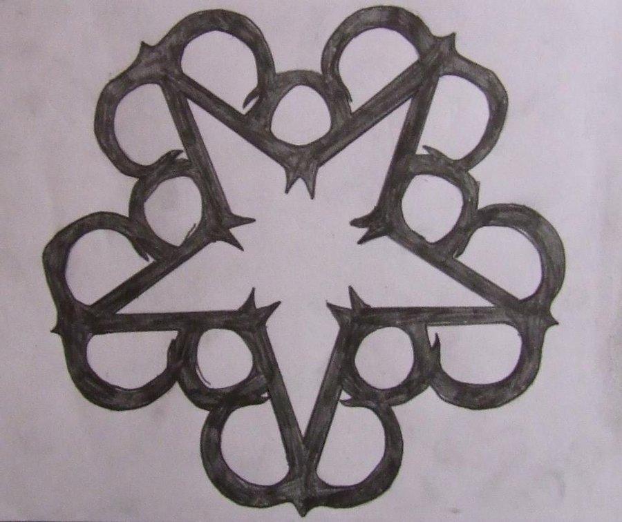 900x756 Black Veil Brides Star Logo (Pencil) By Deathbyscreams