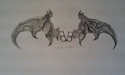 400x239 Black Veil Brides Logo Bat Wings Necklace
