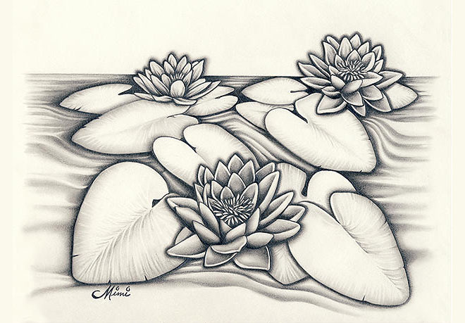 660x459 35 Beautiful Flower Drawings And Realistic Color Pencil Drawings