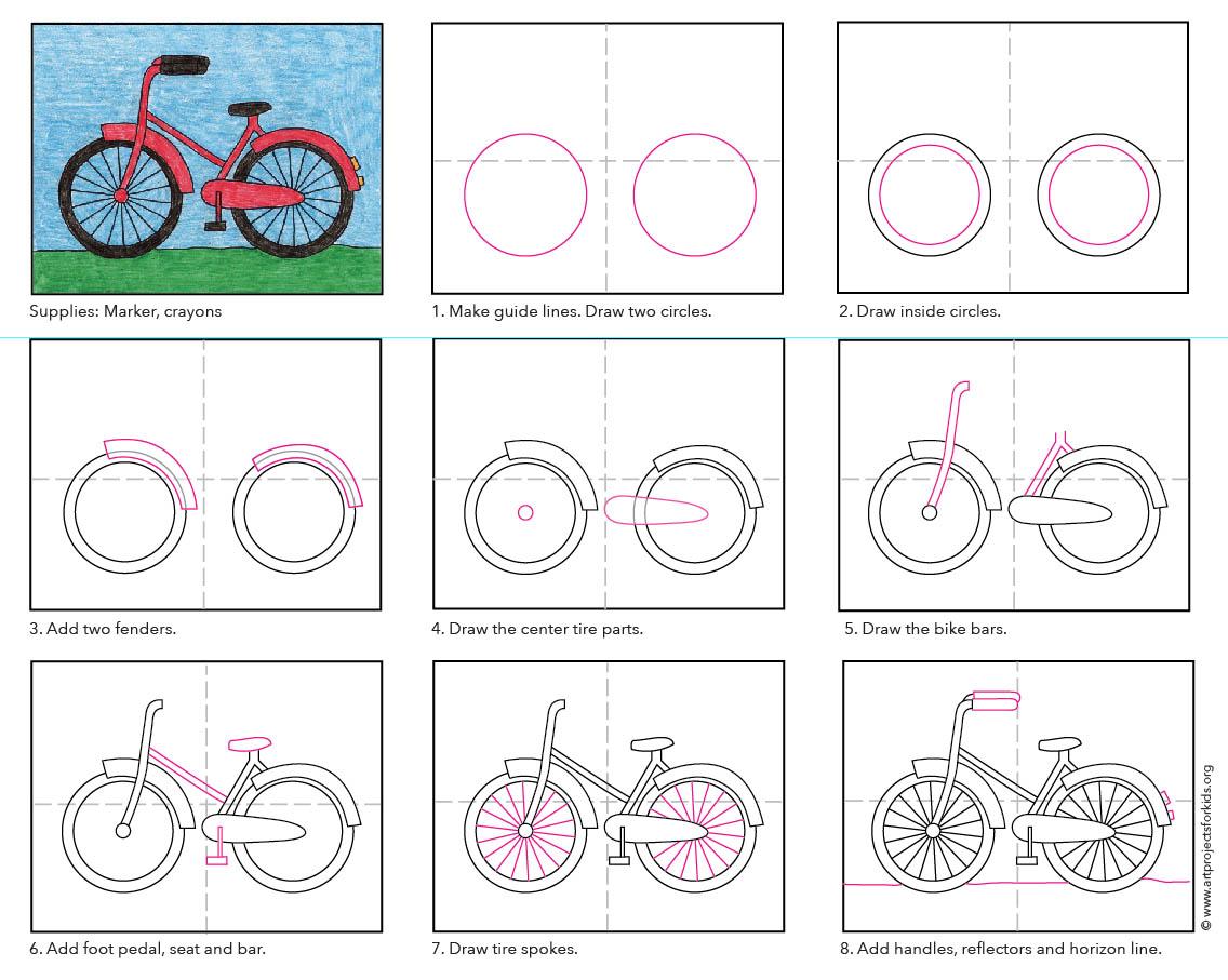 1136x907 How To Draw A Bike