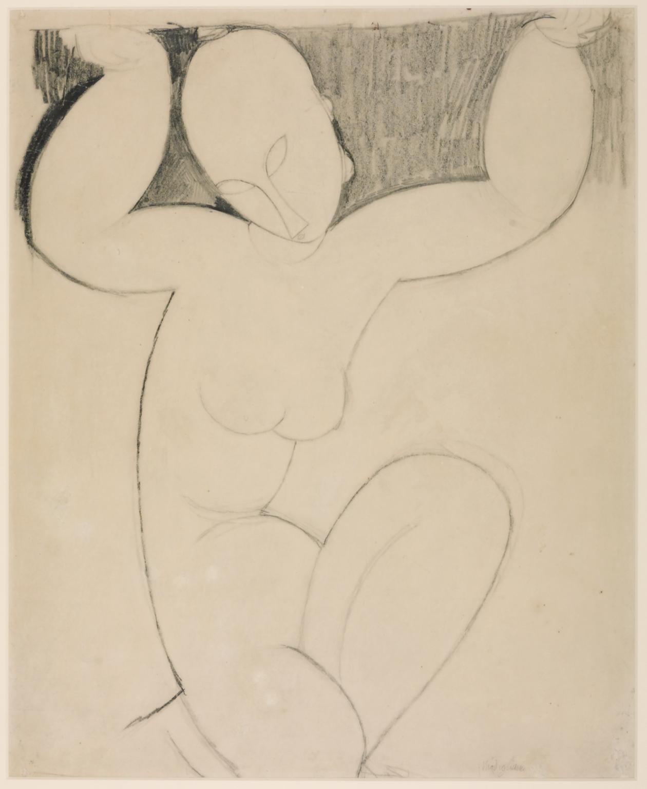 1260x1536 Caryatid', Amedeo Modigliani, C.1913 4 Tate