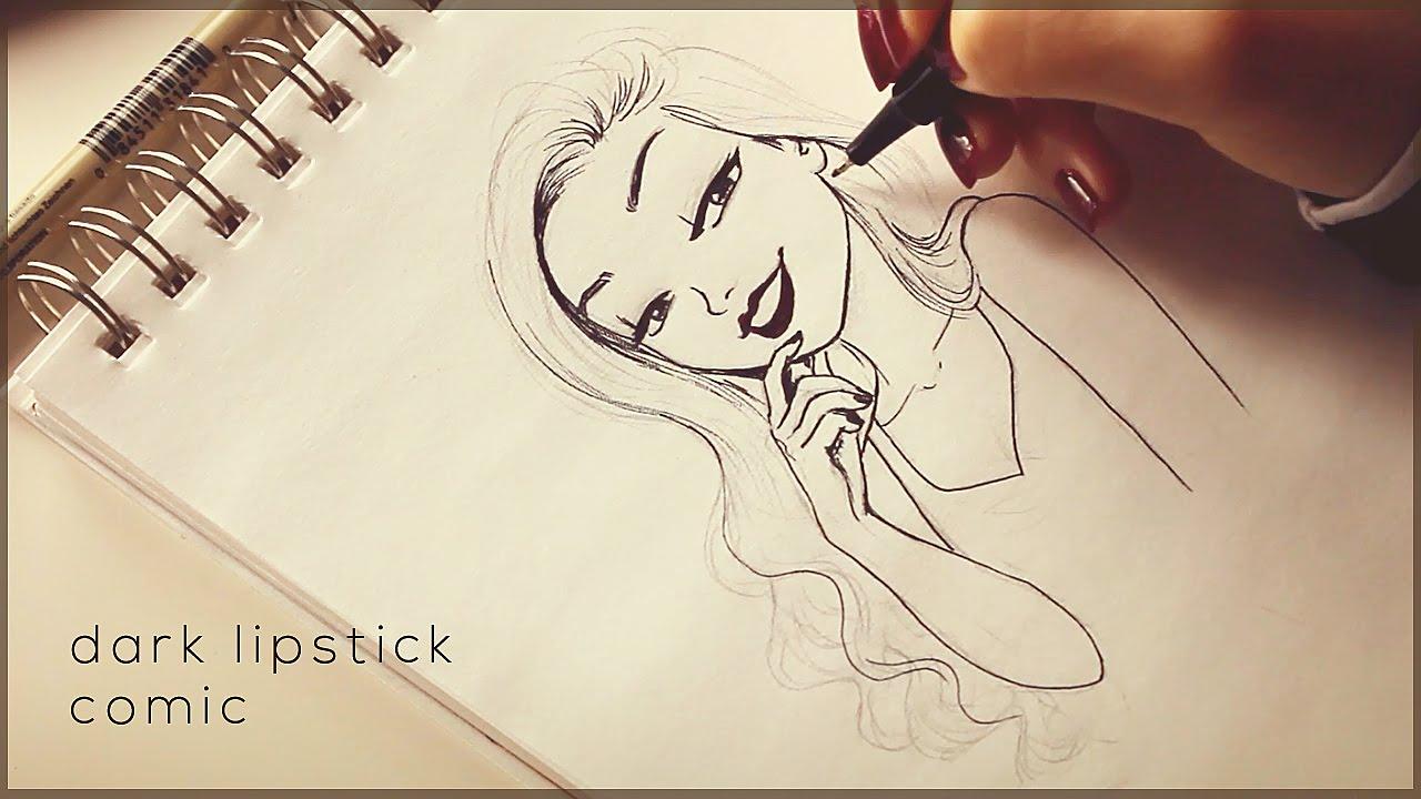 1280x720 Dark Lipstick Comic